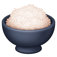 Cooked Rice Emoji on Facebook