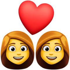 Due donne con cuore Emoji Facebook