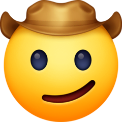 Cowboy Hat Face Emoji on Facebook