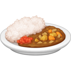 Curry und Reis Emoji Facebook