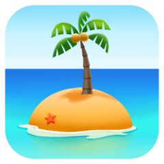 Desert Island Emoji on Facebook
