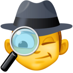 Detective Emoji on Facebook