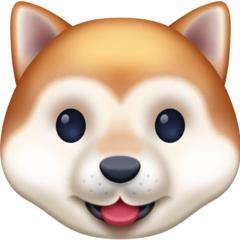 Dog Face Emoji on Facebook