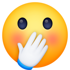 Face With Hand Over Mouth Emoji on Facebook