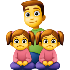 Family: Man, Girl, Girl Emoji on Facebook