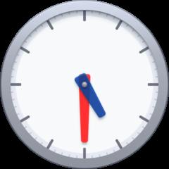 Fünf Uhr dreißig Emoji Facebook