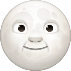 Full Moon Face Emoji on Facebook