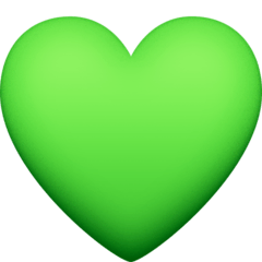 Green Heart Emoji on Facebook