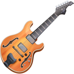 Guitarra Emoji Facebook