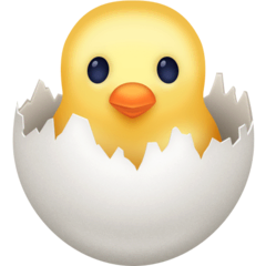 Hatching Chick Emoji on Facebook