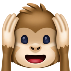 Hear-no-evil Monkey Emoji on Facebook