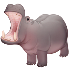 Hippopotamus Emoji on Facebook