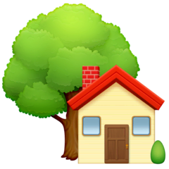 House With Garden Emoji on Facebook