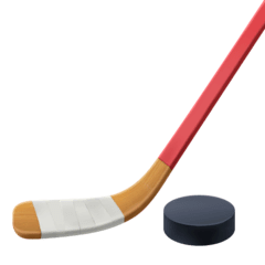 Stick y disco de hockey sobre hielo Emoji Facebook