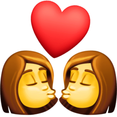 Kiss: Woman, Woman Emoji on Facebook
