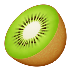 Kiwi Fruit Emoji on Facebook
