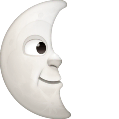 Last Quarter Moon Face Emoji on Facebook