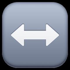 Flecha hacia la izquierda y la derecha Emoji Facebook