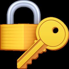 Cadeado fechado com chave Emoji Facebook