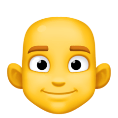 Man: Bald Emoji on Facebook