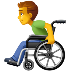 Man In Manual Wheelchair Emoji on Facebook