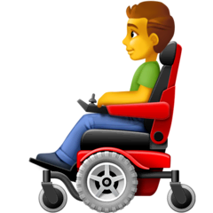 Man In Motorized Wheelchair Emoji on Facebook