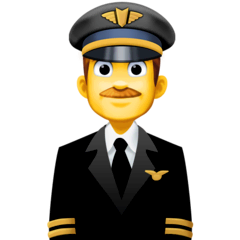 ️Man Pilot Emoji on Facebook