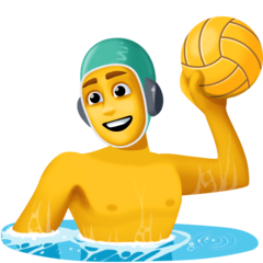 Man Playing Water Polo Emoji on Facebook