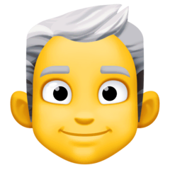 Man: White Hair Emoji on Facebook