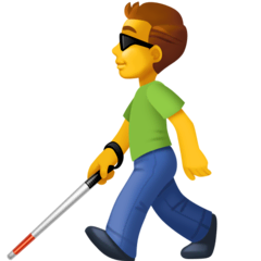 Man With White Cane Emoji on Facebook
