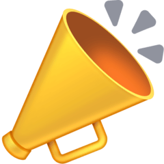 Megaphone Emoji on Facebook