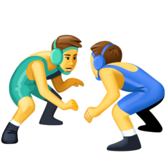 Men Wrestling Emoji on Facebook