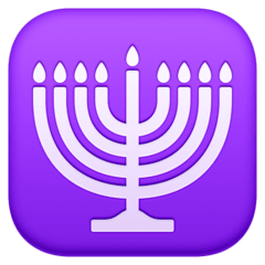 Menorah Émoji Facebook