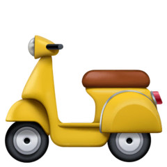 Motor Scooter Emoji on Facebook