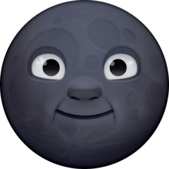 New Moon Face Emoji on Facebook