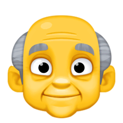 Old Man Emoji on Facebook