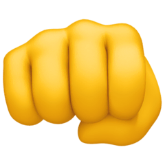 Oncoming Fist Emoji on Facebook