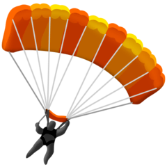 Parachute Emoji on Facebook