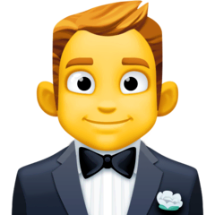 Person In Tuxedo Emoji on Facebook