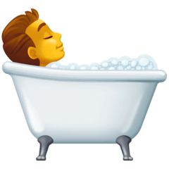Person Taking Bath Emoji on Facebook