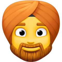 Person mit Turban Emoji Facebook