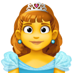 Princess Emoji on Facebook