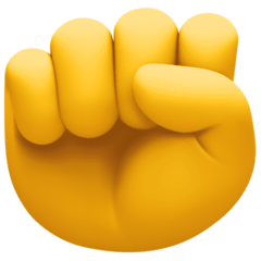 Raised Fist Emoji on Facebook