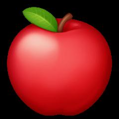 Maçã vermelha Emoji Facebook