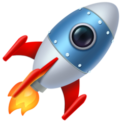 Rocket Emoji on Facebook