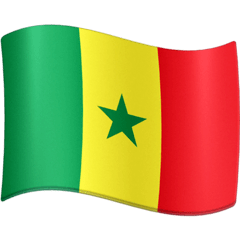 Flagge von Senegal Emoji Facebook