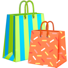 Shopping Bags Emoji on Facebook