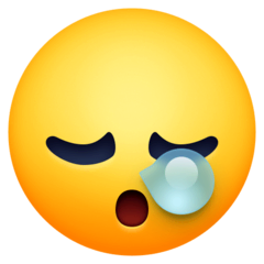 Sleepy Face Emoji on Facebook