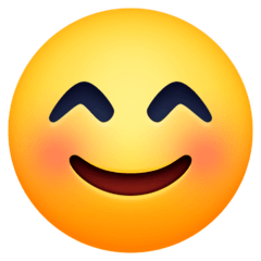 Smiling Face With Smiling Eyes Emoji on Facebook