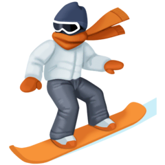Snowboarder Emoji on Facebook